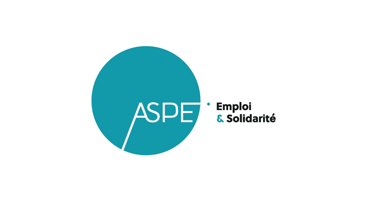 Nouveau logo de l'association intermédiaire ASPE à Bordeaux