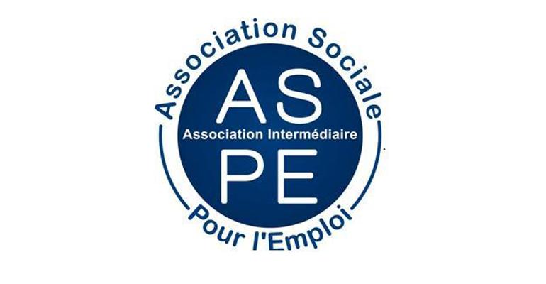 Quatrième logo de l'association intermédiaire ASPE à Bordeaux