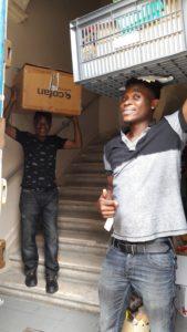 Les salariés de l'ASPE aident au déménagement à Bordeaux